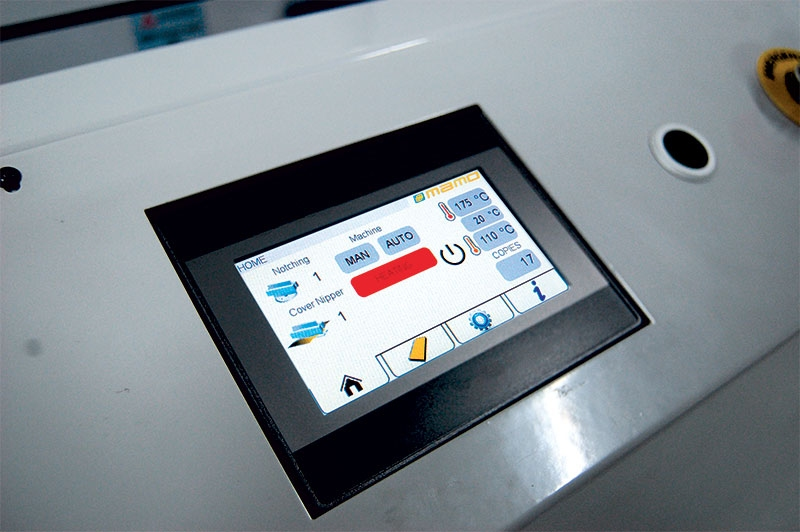 User friendly touch screen for faster and easier setting up